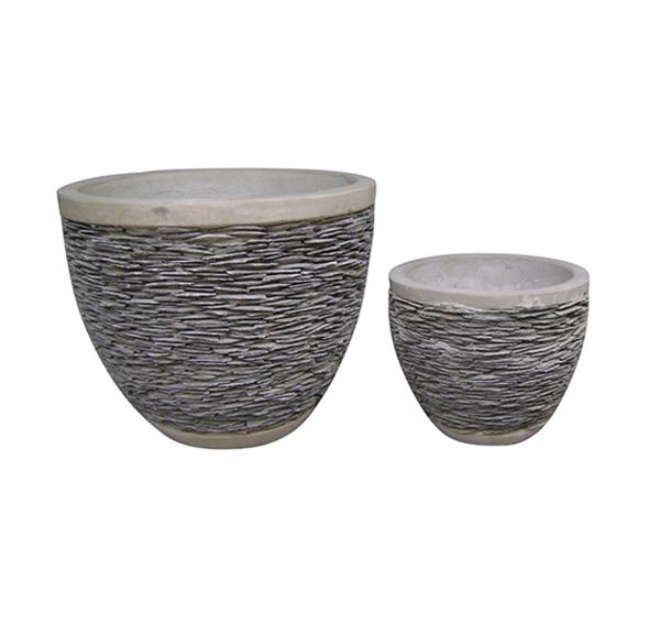 Stone Mosaic Pot Cement TQV_P26001
