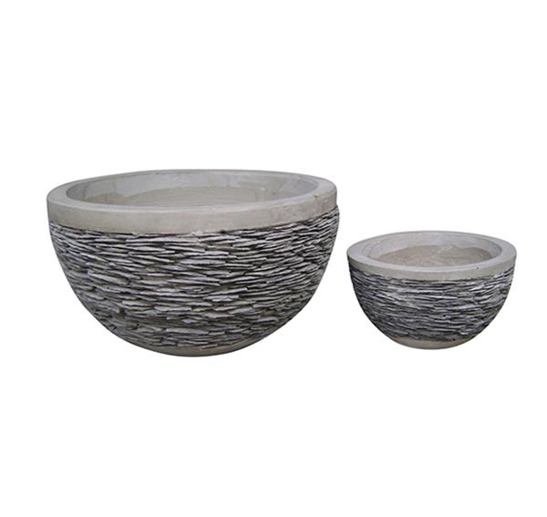 Stone Mosaic Pot Cement TQV_P26002