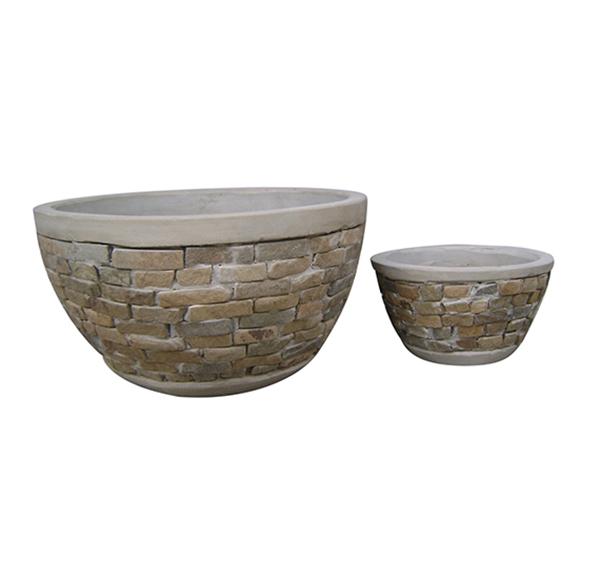 Stone Mosaic Pot Cement TQV_P26006