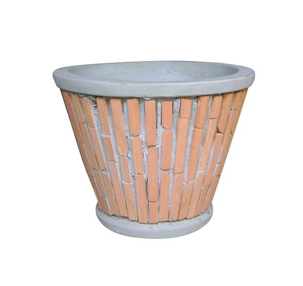 Teracotta Mosaic Pot Cement TQV_P26009