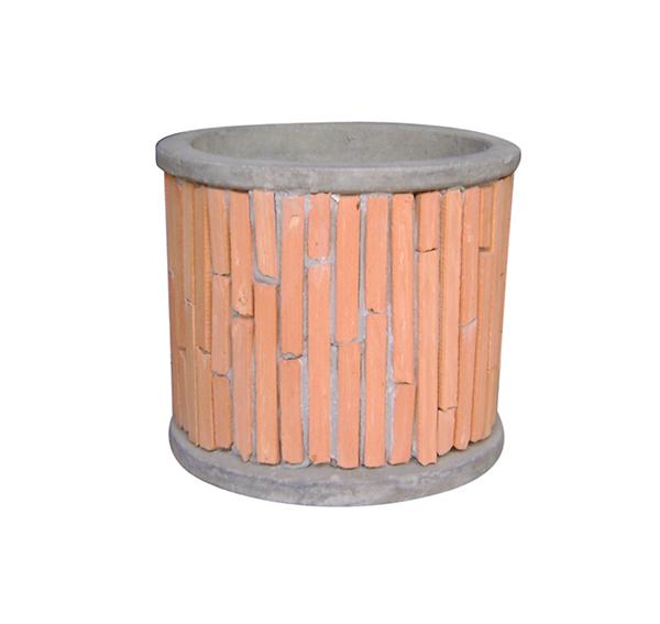 Teracotta Mosaic Pot Cement TQV_P26010