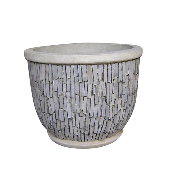 Stone Mosaic Pot Cement TQV_P26011