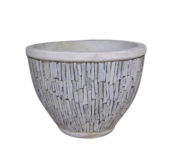 Stone Mosaic Pot Cement TQV_P26012