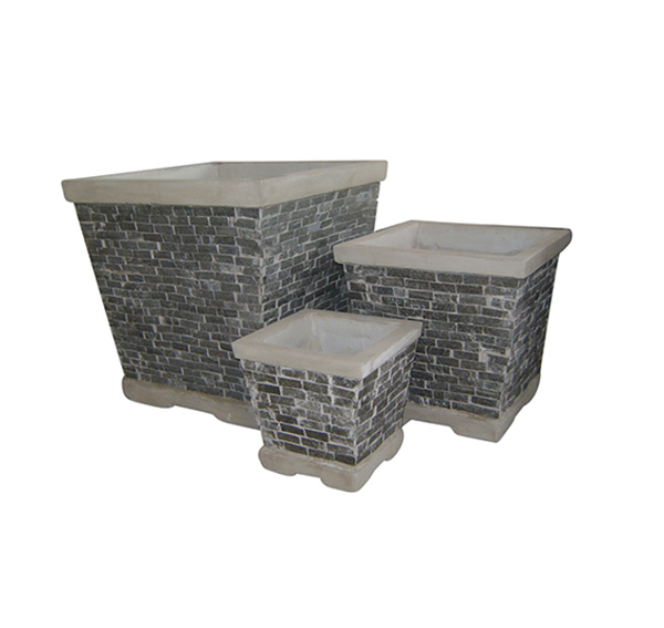 Stone Mosaic Pot Cement TQV_P26017