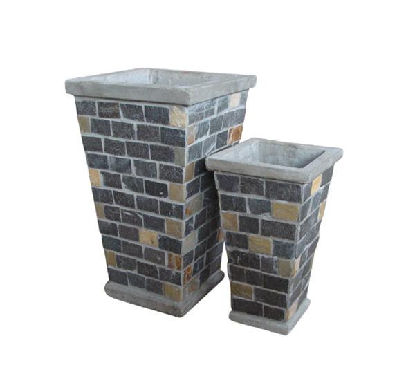 Stone Mosaic Pot Cement TQV_P26021