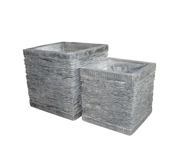 Stone Mosaic Pot Cement TQV_P26024