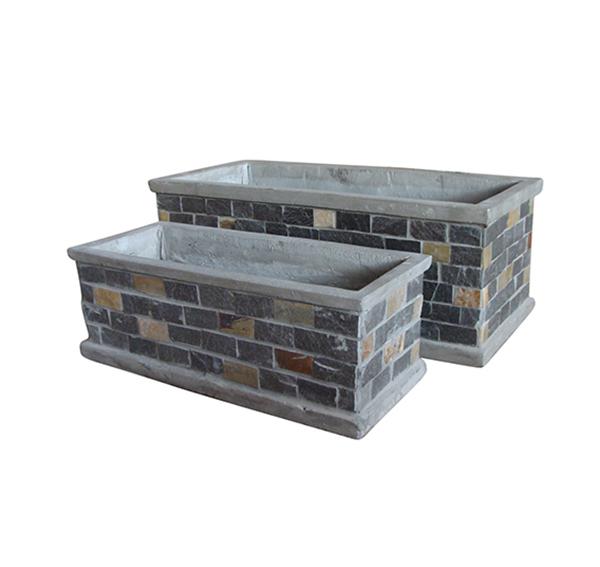 Stone Mosaic Pot Cement TQV_P26026