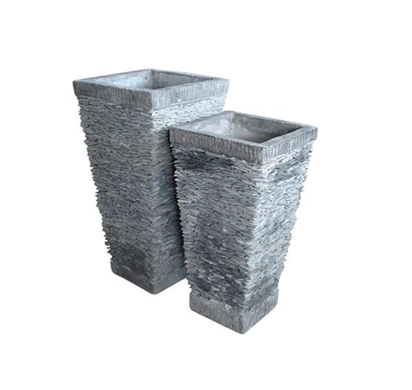 Stone Mosaic Pot Cement TQV_P26031