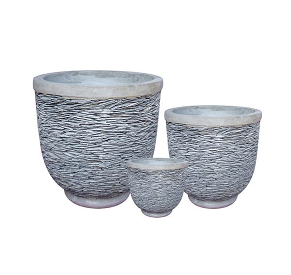 Stone Mosaic Pot Cement TQV_P26036