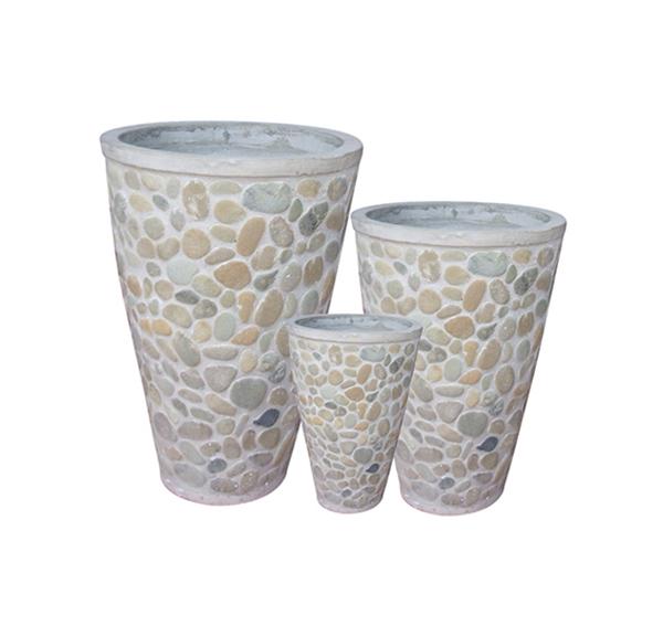 Stone Mosaic Pot Cement TQV_P26044