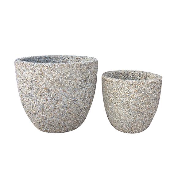 Stone Mosaic Pot Cement TQV_P26045