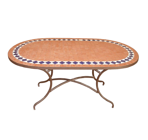 Mosaic Oval Table TQV_216036