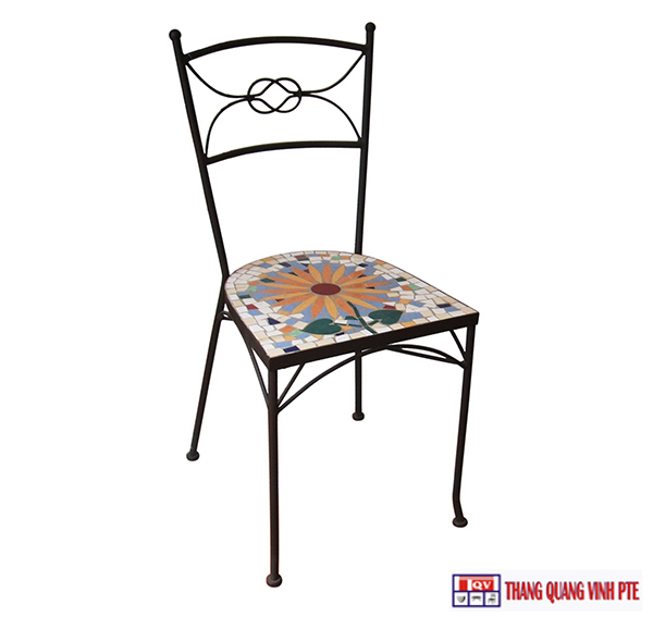 Ghế sắt mosaic TQV_216069