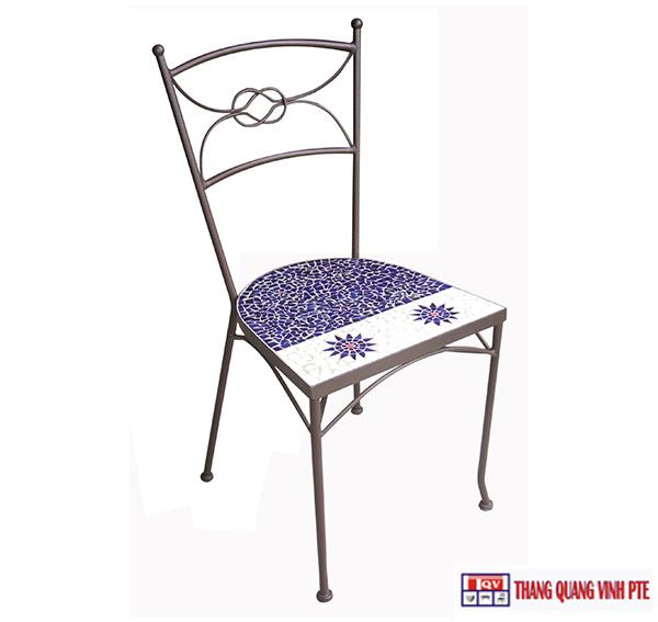 Ghế sắt mosaic TQV_216072
