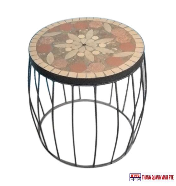 Ghế sắt mosaic TQV_216105