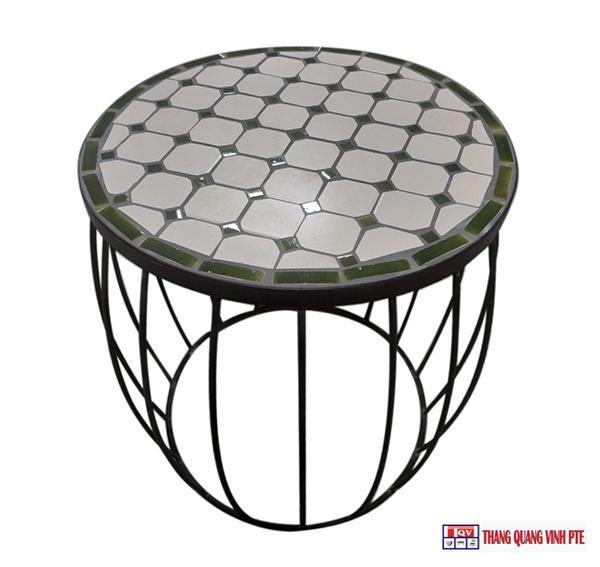 Ghế sắt mosaic TQV_216123
