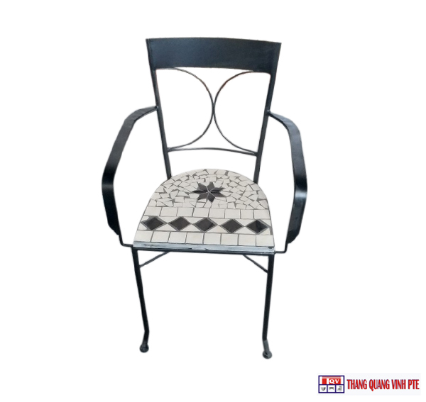 Ghế sắt mosaic TQV_216145