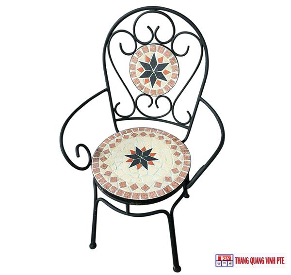 Ghế sắt mosaic TQV_216148
